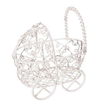 Kinderwagen 'XS' aus Metall, 6 x 4 x 6,5 cm