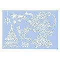 """buttinette Schablone """"kindliche Weihnachten"""", 29,5 x 20 cm"""