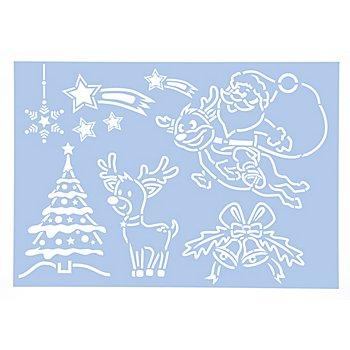 buttinette Schablone 'kindliche Weihnachten'