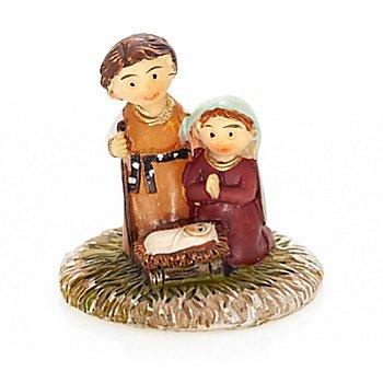 Kindlicher Krippenblock 'Hlg. Familie', 3,5 x 3 cm