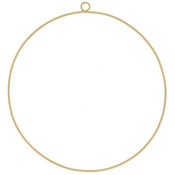 Drahtring, gold, 35 cm Ø