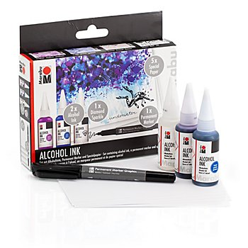 Marabu Alcohol Ink Set 'Underwater'