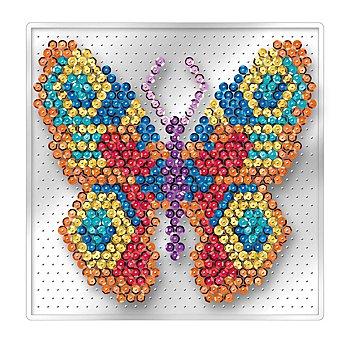 Sequin Art Easy Paillettenbild 'Schmetterling' ohne Nadeln, 17 x 17 cm