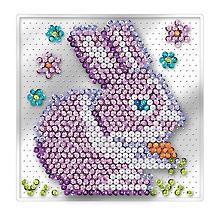 Sequin Art Easy Paillettenbild 'Hase' ohne Nadeln, 17 x 17 cm