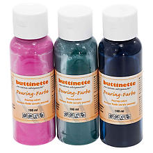 buttinette Set de peintures fluides 'tendance', 3x 100 ml