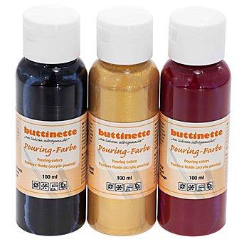 buttinette Set de peintures fluides 'classique', 3 x 100 ml