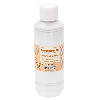 buttinette Pouring-Farbe, weiss, 250 ml