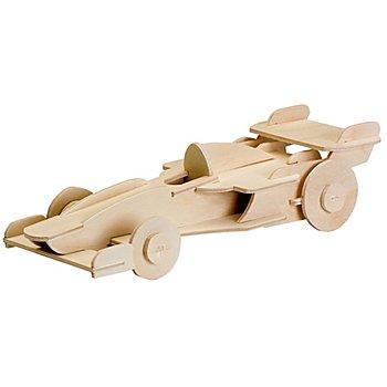 Holzbausatz Rennwagen, 24 x 9 cm
