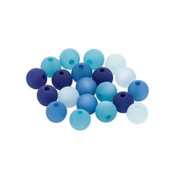 Polarisperlen, dunkelblau-türkis-himmelblau, 8 mm Ø, 20 Stück
