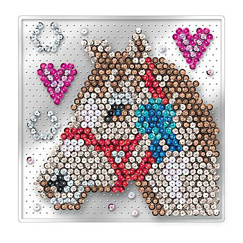 Sequin Art Easy Image en sequins 'cheval', sans épingles, 17 x 17 cm