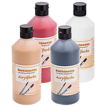 buttinette Acrylfarbe, weiß, 500 ml