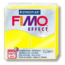 FIMO Effect Pâte à modeler, jaune fluo, 57 g