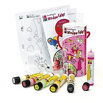 Kit créatif peinture pour fenêtre'princesse'
