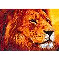 """Kit broderie diamant """"lion dans la savane"""", 34 x 24 cm"""