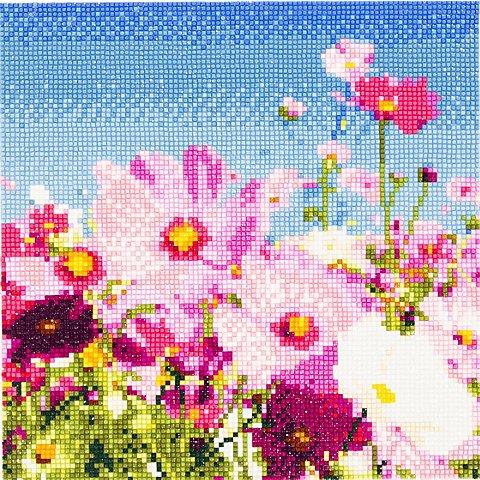 "Image of Diamantenstickerei-Set ""Blumen"", 25 x 25 cm"