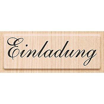 Holzstempel 'Einladung', 6,5 x 2 cm
