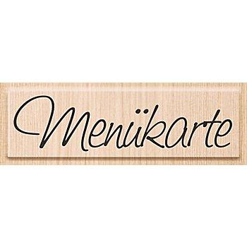 Holzstempel 'Menükarte', 8,6 x 2,2 cm