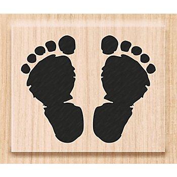 Tampon en bois 'traces de pieds'