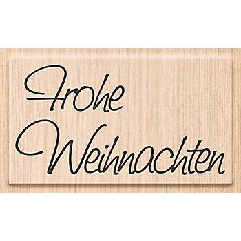 Holzstempel 'Frohe Weihnachten', 7 x 3,8 cm