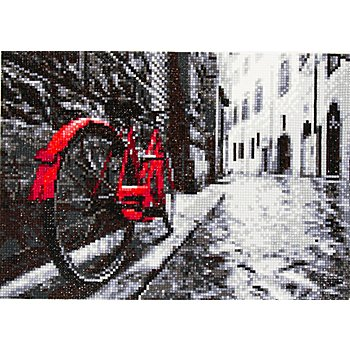 Kit broderie diamant 'vélo', 34 x 24 cm