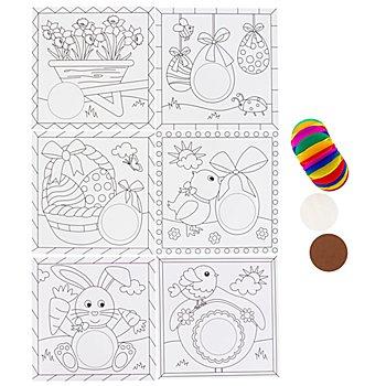 Ursus Images de boules papier alvéolé 'printemps', 6 pièces