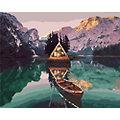 """Kit peinture aux numéros """"chalet dans les Alpes"""", 50 x 40 cm"""