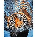"""Kit broderie diamant """"tigre dans l'eau"""", 38 x 48 cm"""
