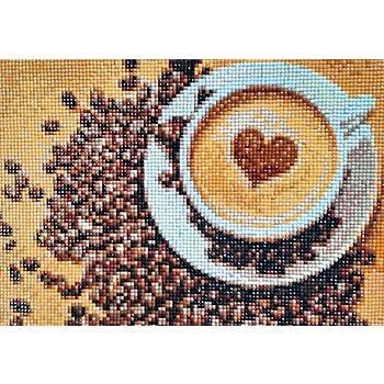 Diamantenstickerei-Set 'Kaffeetasse', 27 x 19 cm