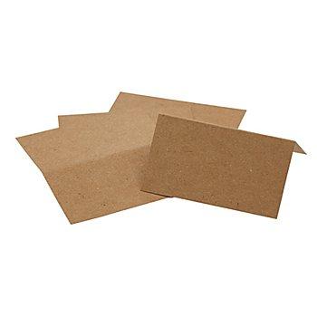 Tischkarten, braun, 4,5 x 10 cm, 25 Stück