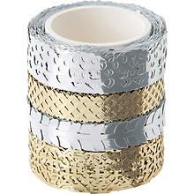 Folia Washi-Dekor, metalic, 10–15 mm, 4x 5 m