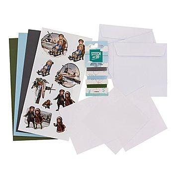 Kit créatif pour cartes à broder 'enfants'