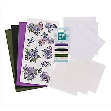 Fadengrafik-Kartenset 'Schmetterling lila'