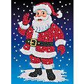 """Sequin Art Paillettenbild """"Weihnachtsmann"""", 25 x 34 cm"""