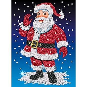 Sequin Art Paillettenbild 'Weihnachtsmann', 25 x 34 cm