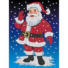 Sequin Art Image à paillettes 'père Noël', 25 x 34 cm