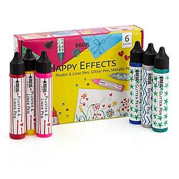 Kreul Stylos 3D 'happy effects', 6 x 29 ml