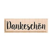 Holzstempel 'Dankeschön', 6 x 1,4 cm