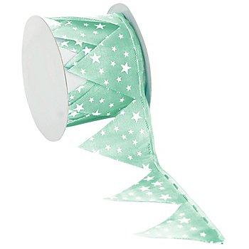 Ruban à froncer 'étoiles', vert menthe/blanc, 5 cm, 2,5 m