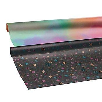 Set de rouleaux de papier transparent 'étoiles', 2 pièces, 50 x 60 cm