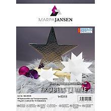 Transparentpapierstreifen-Set Fröbelsterne, weiß, 60 Streifen