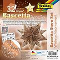 """Folia Papier de pliage """"étoile Bascetta"""", cuivre-blanc, 20 x 20 cm, 32 feuilles"""
