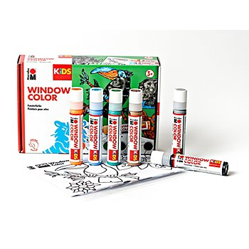 Marabu KIDS Window Color-Set 'Dschungel', 6x 25 ml