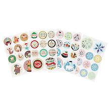 folia Stickers ronds 'Noël', 44 pièces