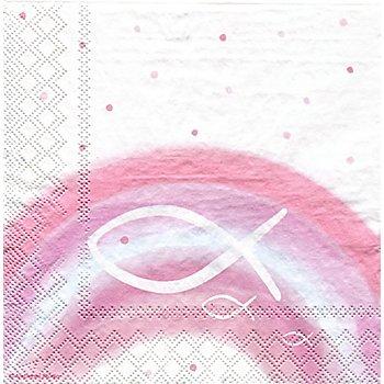 Serviettes en papier 'arc-en-ciel/rose', 33 x 33 cm, 20 pièces