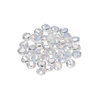 Facettierte Glasperlen, flach, transparent, 6 mm, 40 Stück