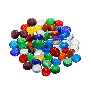 Glas-Nuggets-Mix, bunt-mix, 10–12 mm, 100 g