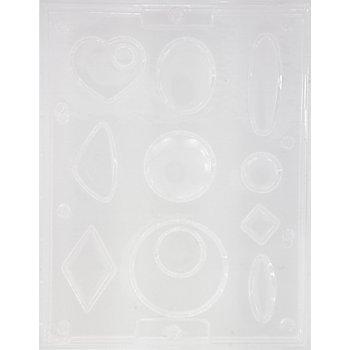 Schmuck-Giessform 'Geometrisch', 2,5-7 cm, 10-teilig