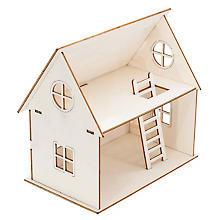 Maquette en bois 'maison de poupée'