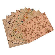 buttinette Kraftpapier-Set, 10 Blatt, A4
