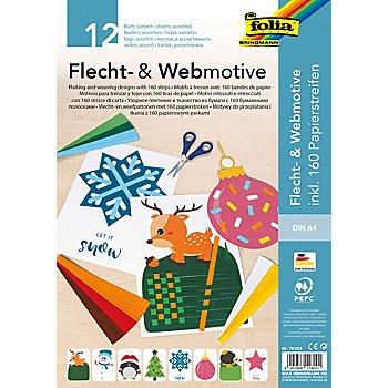 Folia Bastelset Flecht- und Webmotive 'Weihnachten'